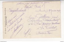 Au Plus Rapide Carte Photo Service Des Prisonniers De Guerre Feldpost Brief Camp Hammelburg 1 Er Janv 1917 Bonne Année ! - War 1914-18