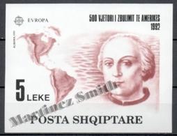 Albania / Albanie 1992 Yvert BF 73, Europa Cept. 500th Ann. Discovery Of America - MNH - Albanie