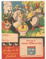 Protège Cahier Huile Des Trois Merlettes Huilerie Du Laonnoi à Voharies - Protège-cahiers