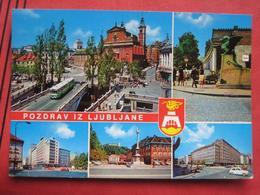 "Ljubljana / Laibach - Mehrbildkarte ""Pozdrav Iz Ljubljane"" / Autobus - Slowenien"
