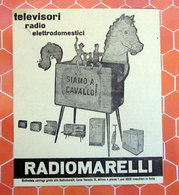 RADIOMARELLI TELEVISORI RADIO   PUBBLICITA' ORIGINALE PICTURE OF VINTAGE PAPER 1960 - Television