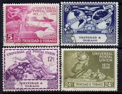 Trinidad & Tobago GVI 1949 UPU Set Of 4, Used, SG 261/4 - Trinidad & Tobago (...-1961)