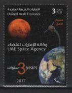 United Arab Emirates (2017)  - Set -  /  Espace - Space - Earth - Moon - Spazio