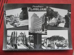 "Ljubljana / Laibach - Mehrbildkarte ""Pozdrav Iz Ljubljane"" / Autobus, Auto - Slowenien"