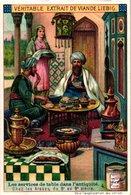 0975 Liebig 6 Cards- C1909  Serving At Table Long Ago-Les Services De Table-Grecs-Byzantins-arabes-Scandinaves - Liebig