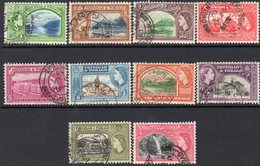 Trinidad & Tobago QEII 1953-9 Definitive Part Set Of 10 To 60c, Used, SG 267/76 - Trinidad & Tobago (...-1961)