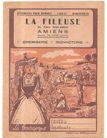 Protège La Fileuse 33, Place René-Goblet à Amiens Chemiserie Bonneterie Les Vendanges En Bourgogne - Protège-cahiers