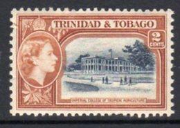 Trinidad & Tobago QEII 1953-9 Definitive 2c Agriculture College Value, Hinged Mint, SG 268 - Trinidad & Tobago (...-1961)