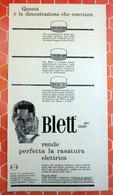 BLETT PRE-SHAVE   PUBBLICITA' ORIGINALE PICTURE OF VINTAGE PAPER 1960 - Pubblicitari