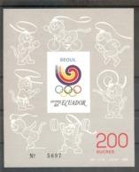 ECUADOR  Olympic Games-88(cycling,boxing,shooting)  S/Sheet   MNH - Olympic Games