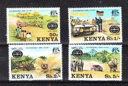 Kenya  -  1977. Safari Africano. Complete MNH Series - Cars