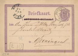 Nederland - 1872 - Kleinrond ZUTPH:-LEEUW Op Briefkaart Naar KR Groningen - Marcophilie
