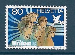 Timbre Neuf** De Suisse, N°1382 Yt, 100 Ans De L'union Des PTT, Colombe - Neufs