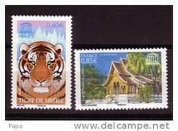 2006-UNESCO N°134/135** SIBERIE & LAOS - Service