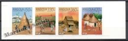 Angola 1992 Yvert C-870, Expo '92 Seville, Traditional Habitants (I) - Booklet - MNH - Angola