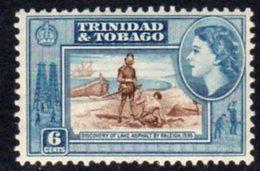 Trinidad & Tobago QEII 1953-9 Definitive 6c Lake Asphalt Value, MNH, SG 272 - Trinidad & Tobago (...-1961)