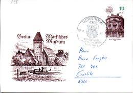 """DDR Amtliche GZS-Postkarte P95 """"Berliner Bauten"""" 10(Pf) Mfg """"750 Jahre Berlin"""" SSt 2.11.88 GERNRODE - Cartes Postales - Oblitérées"""