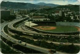 VENEZUELA - CARACAS - STADIO / STADIUM - ESTADIO DE BASEBALL DE LA CIUDAD UNIVERSITARIA CON AUTOPISTA - (BG2000) - Baseball