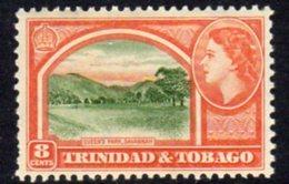Trinidad & Tobago QEII 1953-9 Definitive 8c Queen's Park, Savannah Value, MNH, SG 273 - Trinidad & Tobago (...-1961)