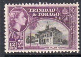 Trinidad & Tobago QEII 1953-9 Definitive 12c Town Hall, San Fernando Value, MNH, SG 274 - Trinidad & Tobago (...-1961)