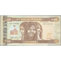 TWN - ERITREA 11 - 10 Nakfa 24.5.2012 Prefix AA UNC - Eritrea