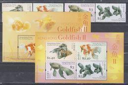 China Hong Kong 2005 Goldfish (stamps4v+SS+MS) MNH - 1997-... Chinese Admnistrative Region
