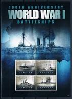 Bloc Sheet 1ere Guerre Mondiale Bateaux World War 1 Battleships  MNH  Neuf **  Liberia 2014 - Guerre Mondiale (Première)