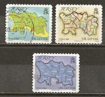 Jersey 2010 Carte Map Obl - Jersey