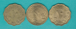 Sudan - 10 Milliemes - AH1395 (1975 - KM55a.1) AH1398 (1978 - KM55a.2) & AH1400 (1980 - KM111) - Sudan