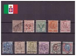 Italie Royaume 1901 Oblitéré - Monarchies - Sassone Nr. 68-78 Série Complète (ita209) - 1900-44 Victor Emmanuel III
