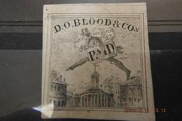 RARE 1843-44 Timbre Poste Locale New-yok D.O.BLOOD &COS CITY DISPATCH POST.traces De Gomme(1er Timbre) - 1845-47 Emissions Provisionnelles