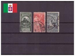 Italie Royaume 1913 Oblitéré - Allégories - Animaux - Chevaux - Monarchies - Anniversaires - Sassone Nr. 99-101 Série Co - 1900-44 Victor Emmanuel III