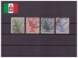 Italie Royaume 1921 Oblitéré - Allégories - Anniversaires - Sassone Nr. 119-122 Série Complète (ita215) - 1900-44 Victor Emmanuel III