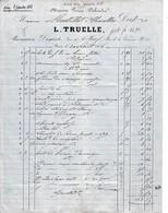 1866 - Paris - PHARMACIEN-DROGUISTE - L. TRUELLE Pour Pharmacien à CHAROLLES - Profumeria & Drogheria