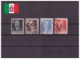 Italie Royaume 1927 Oblitéré - Célébrités - Volta - Sassone Nr. 210-213 Série Complète (ita218) - 1900-44 Victor Emmanuel III