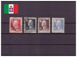 Italie Royaume 1927 Oblitéré - Célébrités - Volta - Sassone Nr. 210-213 Série Complète (ita219) - 1900-44 Victor Emmanuel III
