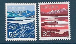 Timbres Neufs** De Suisse, N°1387-8 Yt, Lacs De Montagne, Lac De Melch, Lac De Moësola - Neufs