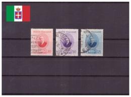 Italie Royaume 1938 Oblitéré - Célébrités - Marconi - Sassone Nr. 436-438 Série Complète (ita226) - 1900-44 Victor Emmanuel III