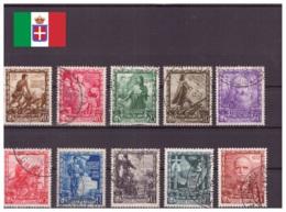 Italie Royaume 1938 Oblitéré - Fascisme - Célébrités - Monarchies - Animaux - Chevaux - Sassone Nr. 439-448 Série Complè - 1900-44 Victor Emmanuel III