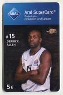 37780  Aral Super Card  - Basketball - Science City Jena - Derrick Allen - Gift Cards