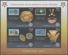 Cept 2005 2006 Perou Peru Yvertn° Bloc 30 *** MNH Cote 8 Euro - Pérou