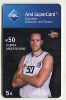 37783  Aral Super Card  - Basketball - Science City Jena - Oliver Mackeldanz - Gift Cards