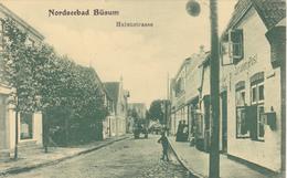 19/ Nordseebad Büsum, Hafenstrasse, Chamois Grün Von A.Sternberg Hamburg - Büsum