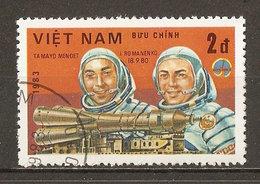 1983 - Journée De L'astronautique - Cosmonautes Mendez Et Romanenko - Programme Intercosmos - N°417 - Viêt-Nam