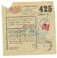 Mooi Document Met Gehalveerde Spoorwegzegel Als Normale Frankeerwaarde Toegestaan Stempel BRAY Via Etterbeek - Belgium