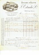 Nice 1891 Huiles D'olive  F. Estradié & Cie - 1800 – 1899
