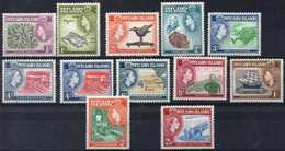 British Pitcairn Yvert# 20/30 Complete Set MNH - Stamps