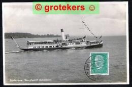 FRIEDRICHSHAFEN Bodensee Dampschiff Hohentwiel 1932 Abstemplung SCHIFFSPOST - Friedrichshafen