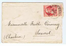 Zeer Mooi Document Met Postzegel Koning Leopold II Van Bastogne Naar Souvret - Belgium