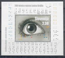 SLOVENIA 2009 - 200° NASCITA DI BRAILLE - FGL - MNH ** - Slovenia